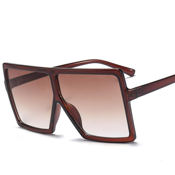 Flat Frame Square Sunglasses