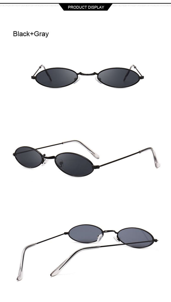 Retro Small Oval Sunglasses Women