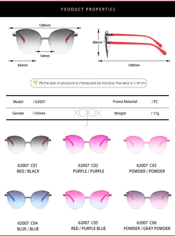 Children Frameless Sunglasses  Eyeglasses
