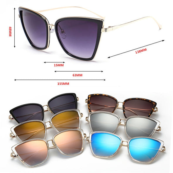 Macarons!Alloy Cat Eye Gradient Sunglasses