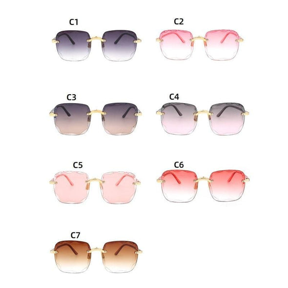 Women Square Frameless Sunglasses
