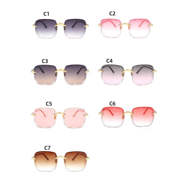 Macarons!Women Square Frameless Sunglasses