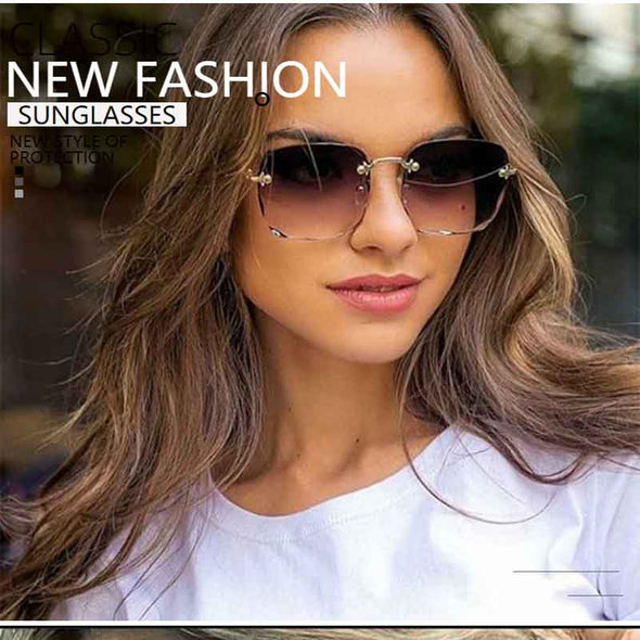 Square Frameless Sunglasses