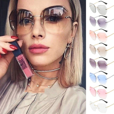 2020 Oversized Rimless Sunglasses