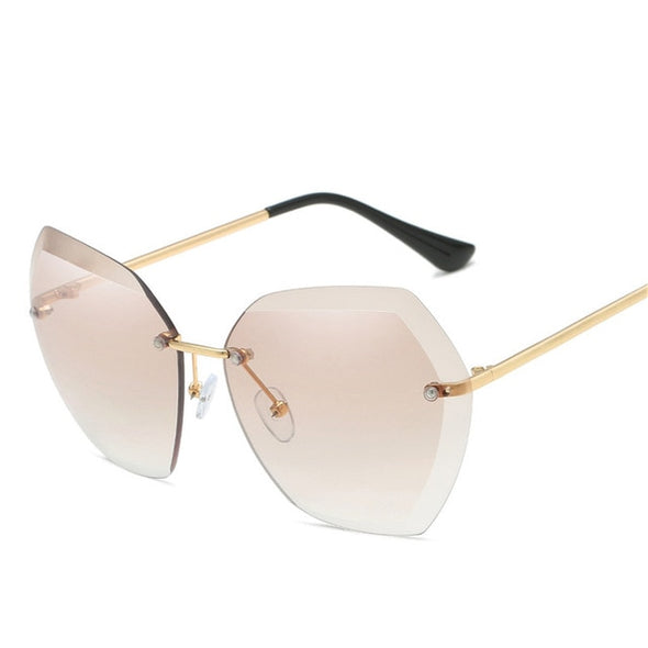 Macarons!2020 Oversized Rimless Sunglasses
