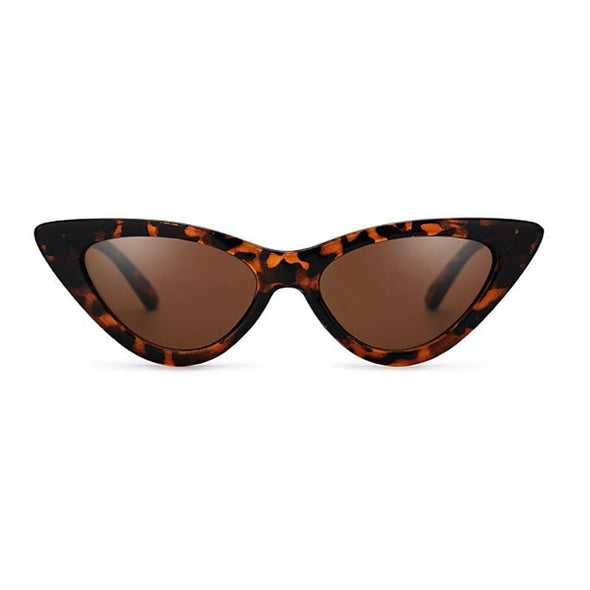 Vintage cat eye leopard print sun glasses