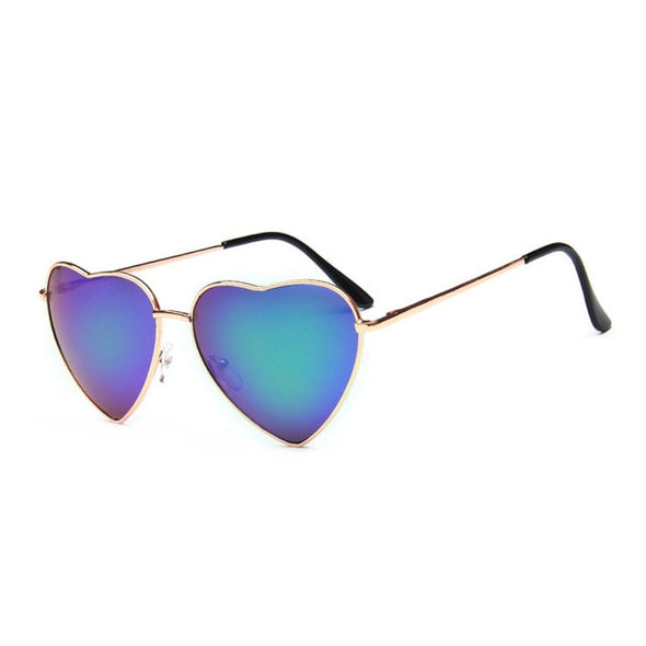 Heart Sunglasses Mirror Retro