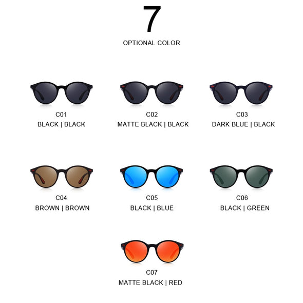 Men Classic Retro Rivet Polarized Sunglasses