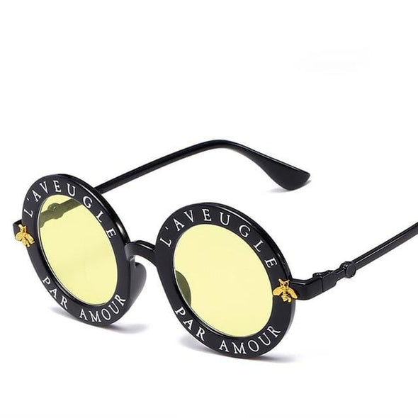 Vintage Glasses Circle Classic Bee sunglasses