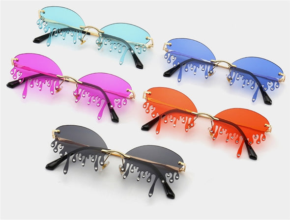 Macarons!Unique Tears Shape Punk Sunglasses