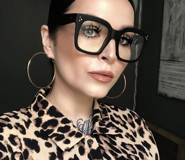 Fashion Square Big Frame Glasses