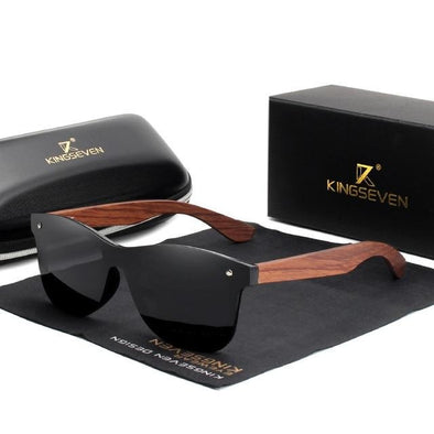 Men Natural Wooden Polarized Sunglasses