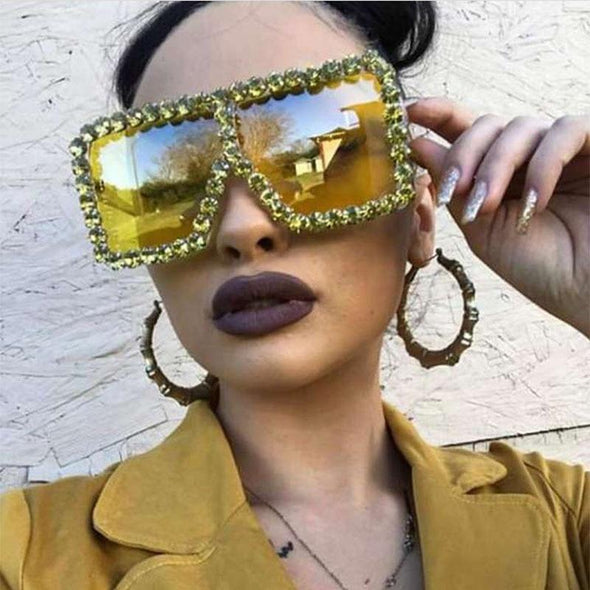 Oversized Crystal Sunglasses