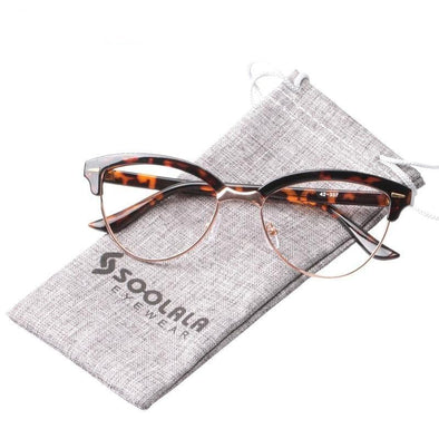 rimless Cat Eye Reading Glasses