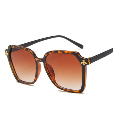 Bee  Luxury Brown Leopard  Sunglasses