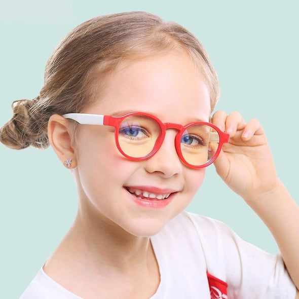 Kids Soft Solicone  Blue Light Glasses
