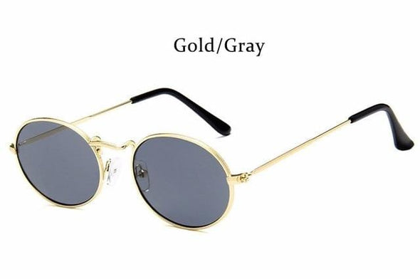 Women Sunglasses Retro Metal Oval Sunglasses Men Candy Color Transparent Sun Glasses