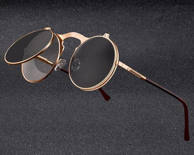 Retro Round Metal Frame Sun Glasses
