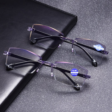 Men Women Rimless Reading Glasses