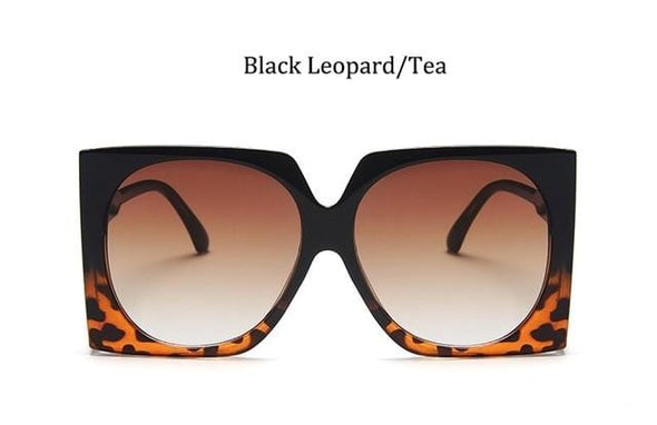 Retro Square Brand Designer Sunglasses Women Fashion eye glasses Oversized Luxury glasses eyewear Oversized Sunglasses Woman