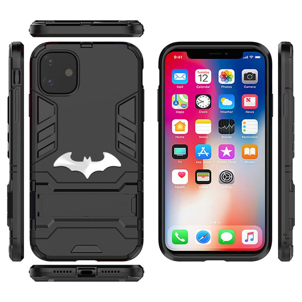 Iron Man Armor Case For Apple iPhone 11 Pro 12 XS Max XR X 7 8 6 6S Plus 5 5S 5C SE SE2 Soft Silicone Hard PC Batman Cover Funda
