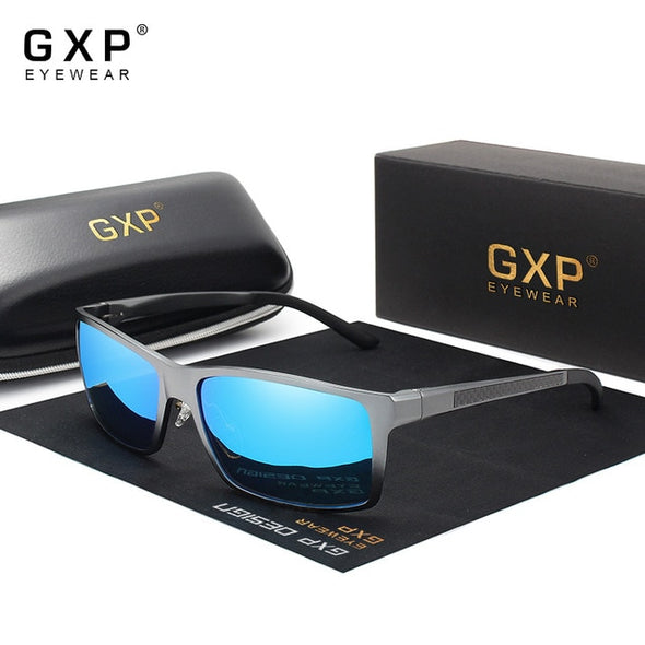 GXP New Design Aluminum Magnesium Sunglasses Men Polarized Square Driving Sun Glasses Male Eyewear Accessories For Men