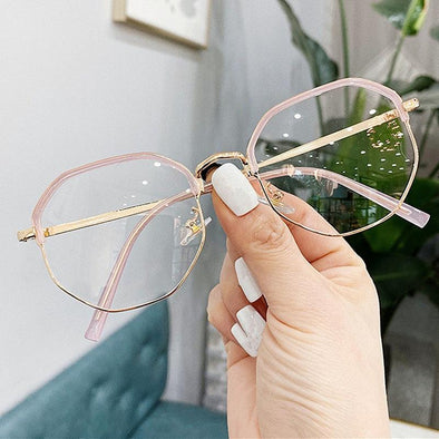 2020 Trends Office Anti Blue Light Oversized Glasses Computer Women Blue Blocking Gaming Big Size Men Eyeglasses Frame