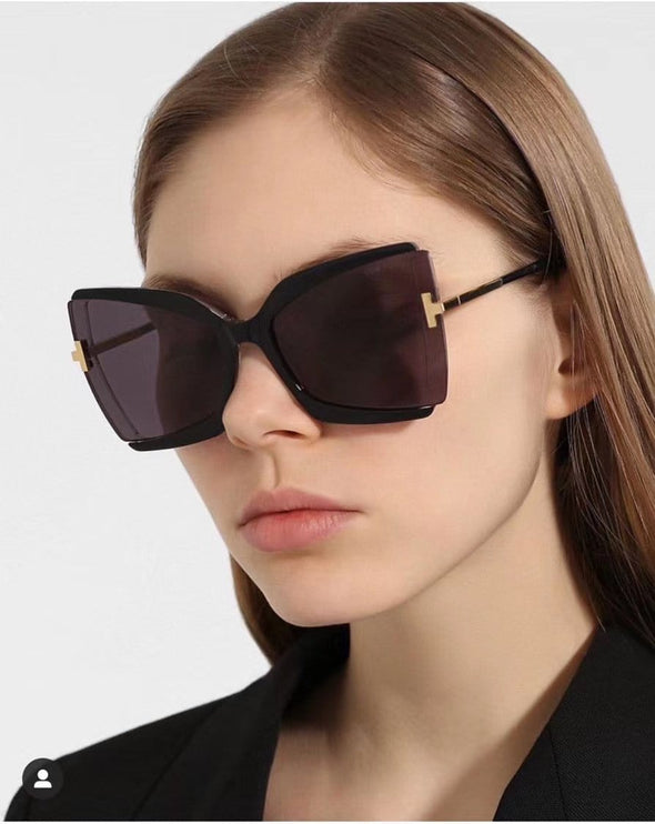 Brand Designer T Sunglasses 2020 New Oversized Square Women Sun Glasses Female Big Frame Colorful Shades fpr women Oculos