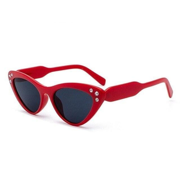 Women Crystal Cat Eye Sunglasses