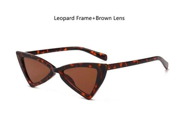 Women Retro Fashion Triangular Leopard Glasses
