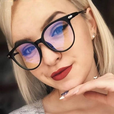 Women Transparent Vintage Round Clear Glasses