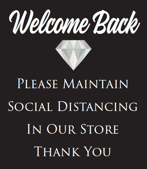 "Diamond contravision - ""Welcome Back"" - 27 x 30, pack of 2"