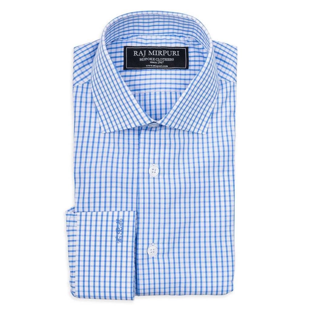 Bespoke - Blue Checked Tailored Shirt