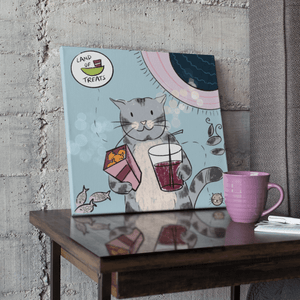 Land of Treats (Cat Island) - Canvas Print