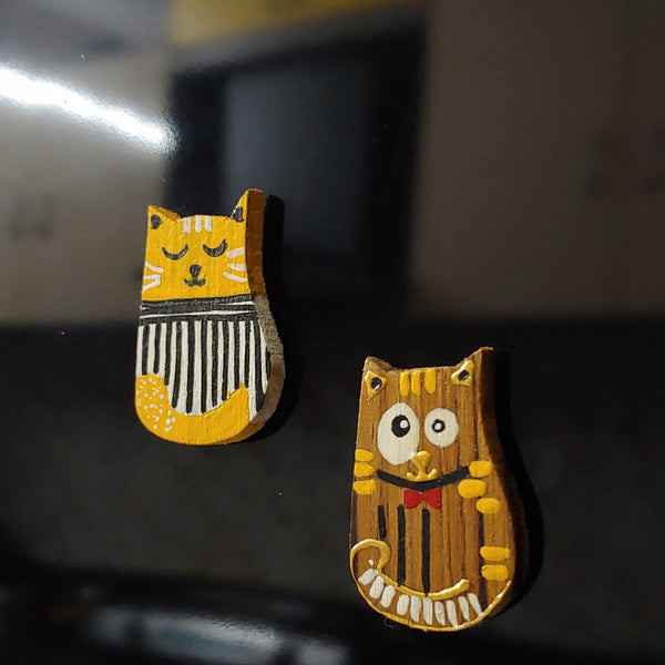 Curious Cat x Artycor: Wooden Magnets