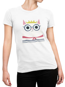 Cat with a Crown Tee - Women