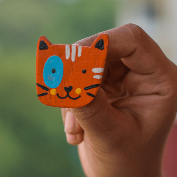 Curious Cat x Artycor: Wooden Lapel Pins