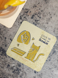 Life Lessons From Cats Part 2 - Set of 5 Coasters