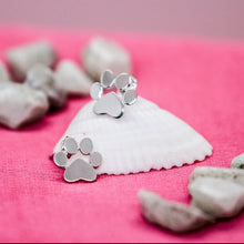 Load image into Gallery viewer, Sterling Silver Paw Studs