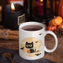 Load image into Gallery viewer, Black Witch Cat Mug