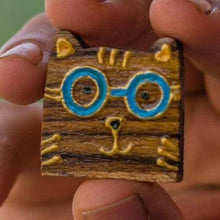 Load image into Gallery viewer, Wooden Lapel Pins - Curious Cat Company