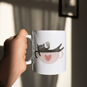 A Cup Of Purr Please Mug - Curious Cat Company