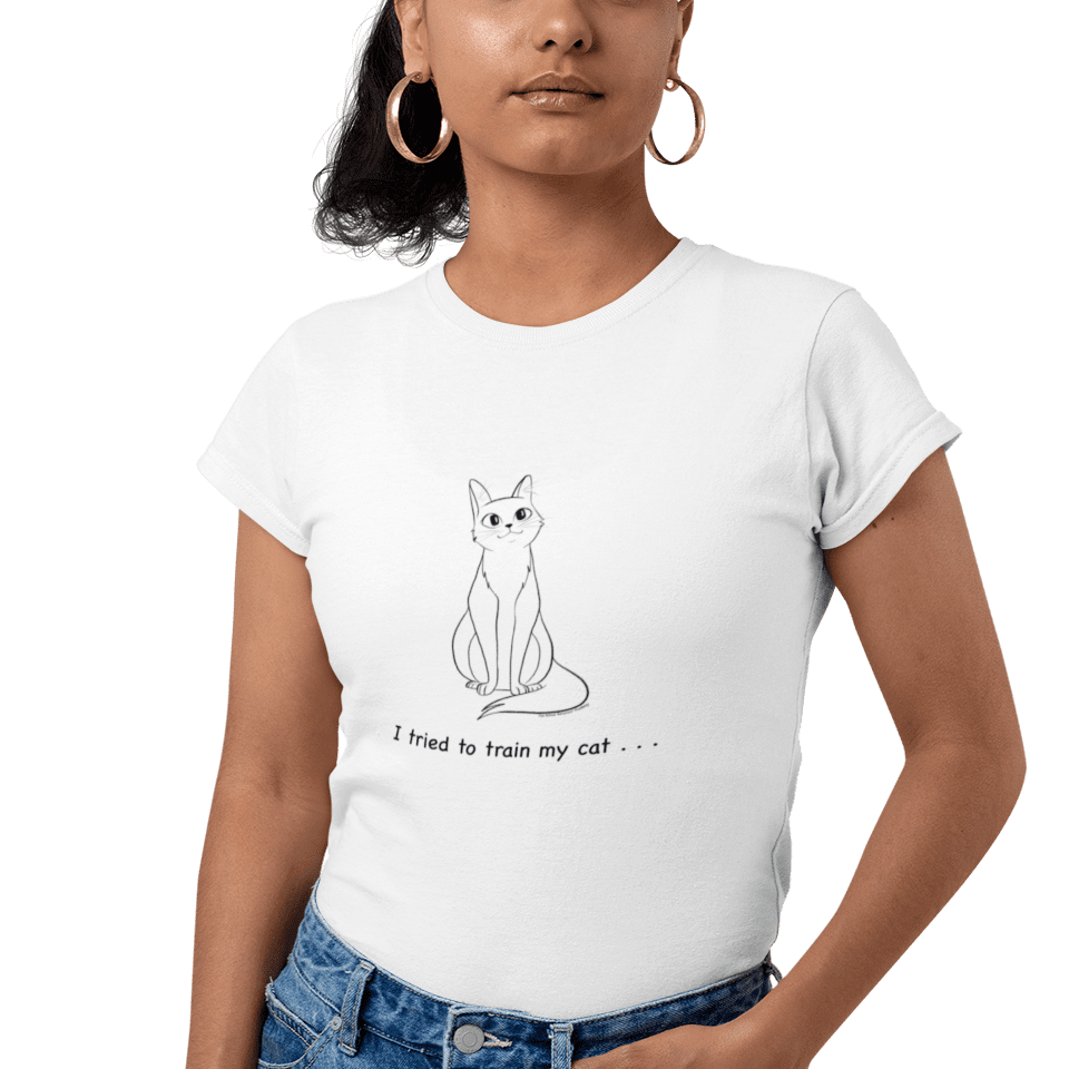 Cat Training Tee - Women