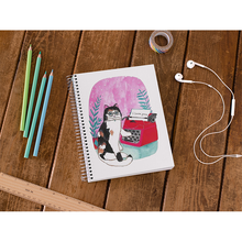 Load image into Gallery viewer, Typewriter Cat Notebook - Curious Cat Company