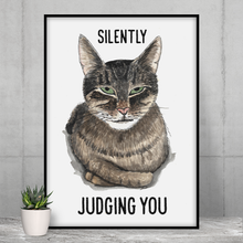 Load image into Gallery viewer, Judgmental Cat - Poster - Curious Cat Company