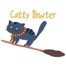 Load image into Gallery viewer, Catty Pawter - Girl's Tee - Curious Cat Company