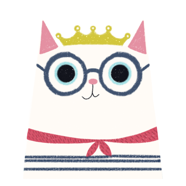 Le Chat Royale - Girl's Tee - Curious Cat Company
