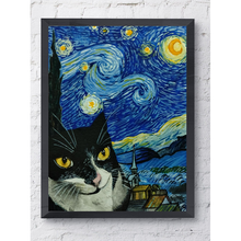 Load image into Gallery viewer, Starry Night with Meni - Poster - Curious Cat Company