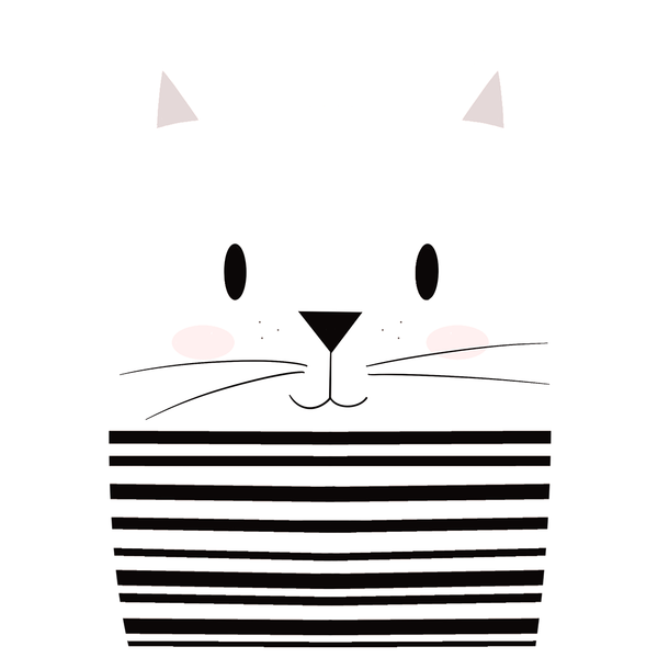 Mime Cat - Girl's Tee - Curious Cat Company