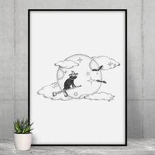 Load image into Gallery viewer, Wizard Cat - Framed Poster - Curious Cat Company